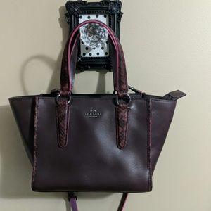 Coach Mini Crosby leather satchel w/python trim